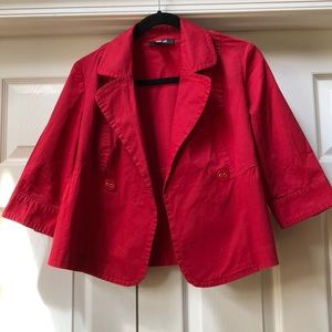 Style and Co. red cotton swing jacket! Sz PM!
